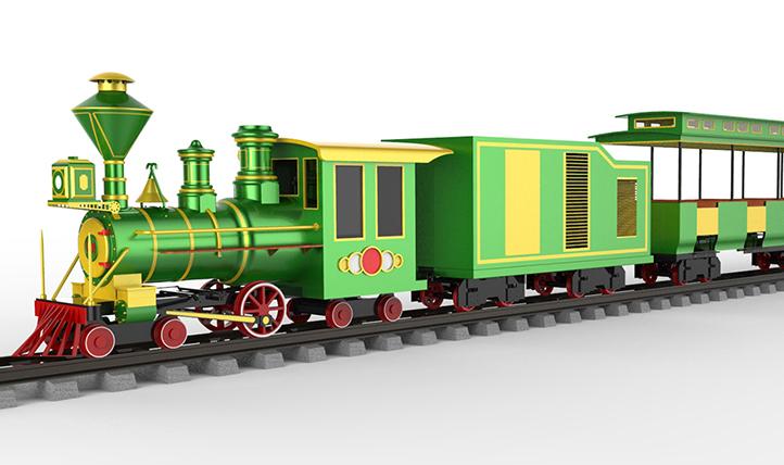 Vintage style Railway train IV
