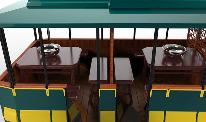 Wheeled Dinning Coach
